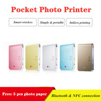 Color Photo Printer 313dpi Portable Photo Pocket With DIY Share Picture Printer Pocket Printer