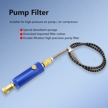 PCP Пейнтбол Airforce 300bar 4500psi ручной насос фильтр с предохранительным клапаном M10x1 водоотделитель фильтрация воздуха 50 см шланг 8 мм