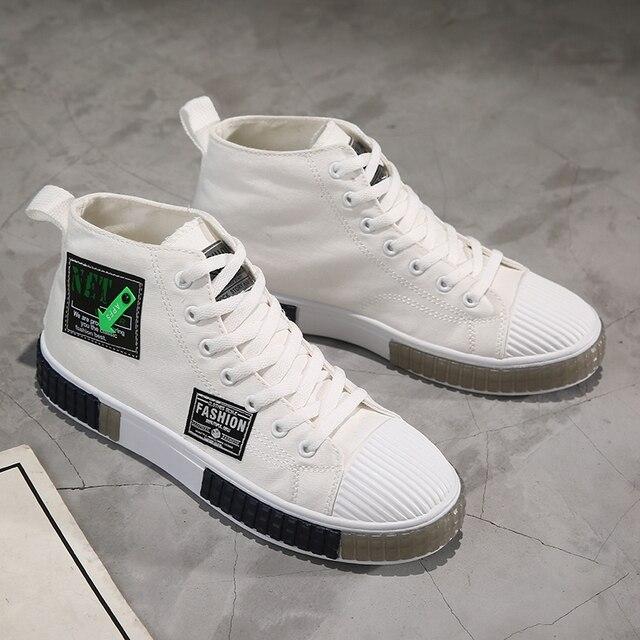 Фото весна 2021 мужская парусиновая обувь цвет черный белый вулканизированная цена