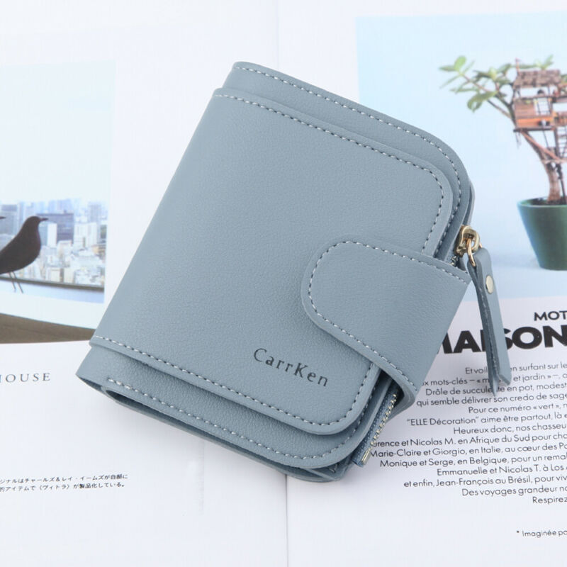 Fashion Women Leather Wallet Clutch Ladies Card Holder Short Zipper Small Wallet  Coin Purse Money Purse  /BY