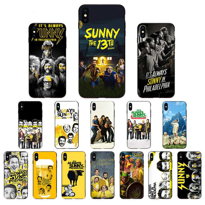 It's Always Sunny In Philadelphia For <font><b>iPhone</b></font> 5 5S SE 2020 11 11Pro max 6 7 8 6s Plus <font><b>X</b></font> XR XS Max Phone <font><b>Cases</b></font> Fundas Black Covers image