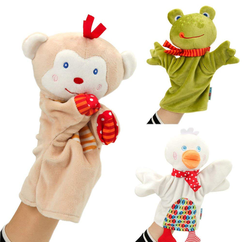 Soft Educational Birthday Baby Toys Puppet Show New Hot Sale Monkey Cute Hand Puppets  For Child Baby Favor Plush Dolls
