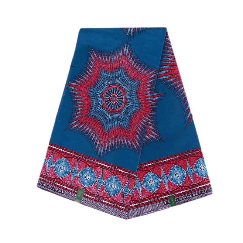 High Quality 100% Cotton Africa Nigerian Prints Dutch Wax Fabric Royal Fabric For Party Dress