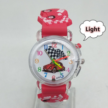 Kids Watches LED Flash Glow 3D Car Team Children Electronic