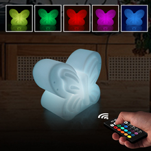 RGB Dimmable LED Light Night Atmosphere Lamp with Colorful Changing Butterfly Indoor Light with Suction Pad Home Party Desk lamp usb rechargeable rgb egg led night light outdoor desk multicolor pub club ktv atmosphere lamp light with remote controller