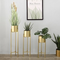 Metal Flower Pot Wrought Iron Flower Stand Home Decoration Flower Arrangement Potted Floor Stand