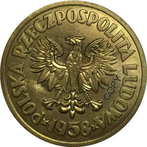 1958 медные монеты, копия 29 мм