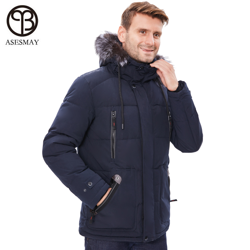 Asesmay Men Winter Jackets Puffy Jackets Men's   Parka   Winter Coats with Hoodies Stylish Thick Warm Snow Hooded Jacket Outerwear