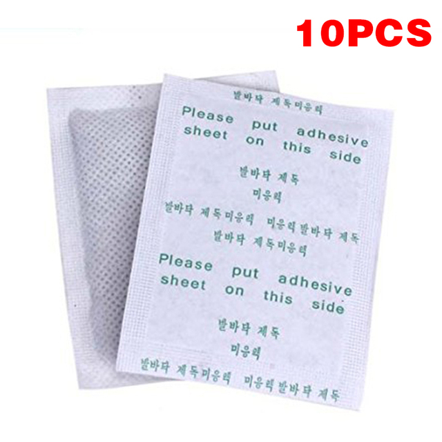 10pcs / Bag Slimming Foot Patches Detox Foot Patch Mask Relieve Fatigue Remove Toxin Foot Help Sleep Skin Care Pads Sticky TSLM1 5
