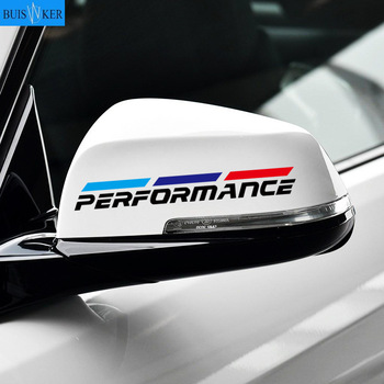2pcs M Power Performance car rearview mirror sticker for BMW 1 3 4 5 7 Series GT X1 X3 X4 X5 X6 F15 F16 F18 F10 F25 F30 F31 F34 image