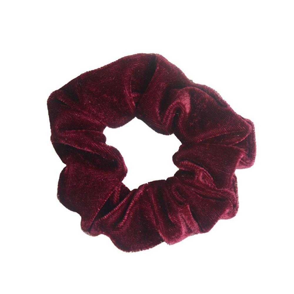 1 шт., женское эластичное кольцо для волос, зимние мягкие бархатные резинки, резинки для волос, милые одноцветные аксессуары для волос, держатель для конского хвоста - Цвет: 10