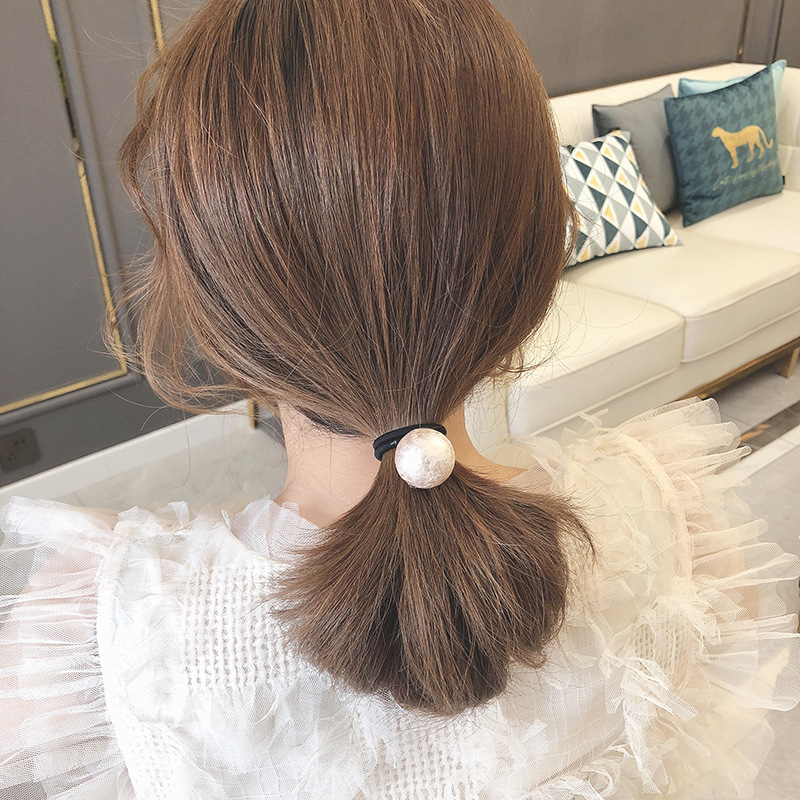Fashion Pearl Hair Ties 2020 Female Ponytail Rubber Bands Girl Vintage Headdress Accessories