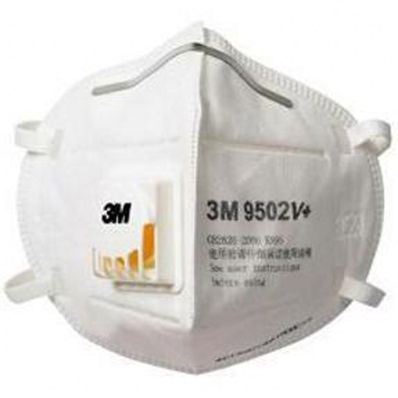 Free DHL 3M Face Mask FFP3 N95 9502v+ Face Mask Mouth Protective Mascherine Covid 19 PM2.5 Protective Mask Reusable Masque