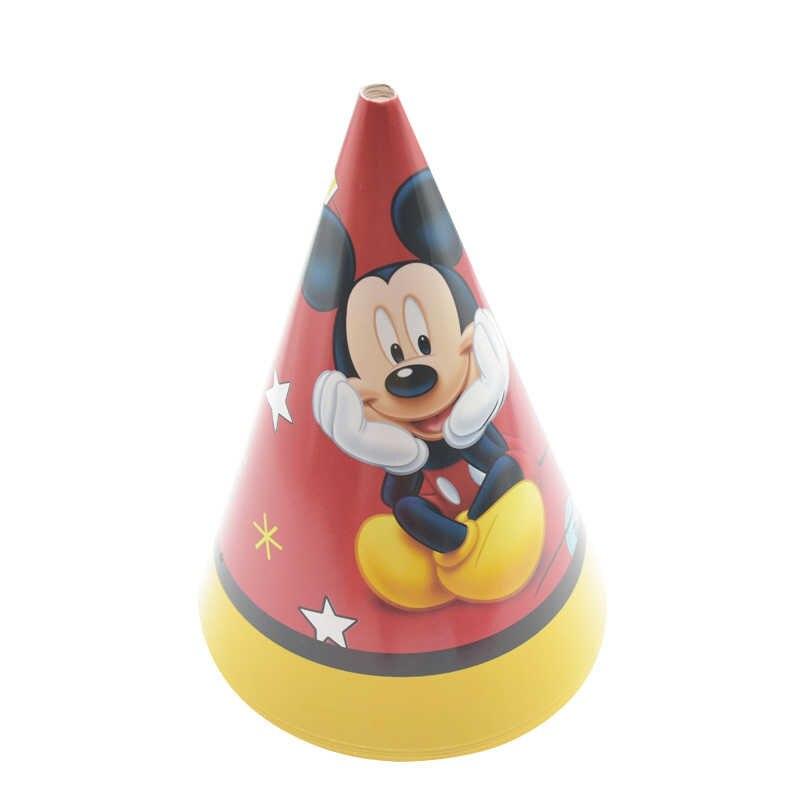 Mickey Mouse คริสต์มาสตกแต่งแผ่นกระดาษถ้วยทิ้งบนโต๊ะอาหารทารกฝักบัวปาร์ตี้ชายอุปกรณ์คำเชิญงานแต่งงาน
