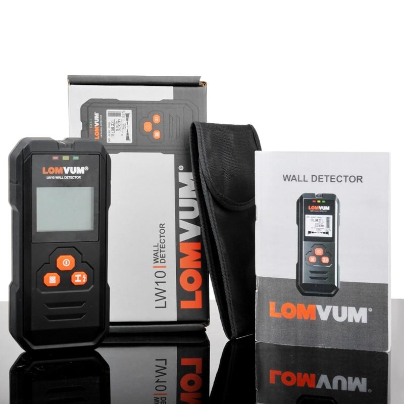 Image 5 - LOMVUM Multi functional Digital Wall Detector Metal Wood AC Voltage Live Wire Handheld Detector LCD-in Industrial Metal Detectors from Tools