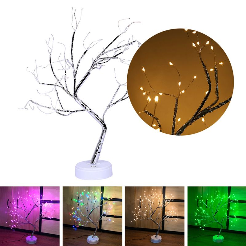 Tree Branch Desk Lamp Touch Switch Vintage Style Light For Party Home Decor  New