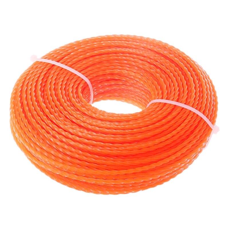 3.0mm Diameter Grass Trimmer Line Brush Cutter Power Nylon Twist Rope Cut Weed
