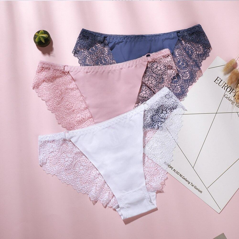 3 шт. нижнее белье, сексуальные женские трусики для женщин, нижнее белье, кружевные дышащие мягкие прозрачные женские трусы