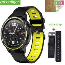 L8 relógio digital smartwatch, à prova d água, monitoramento de calorias, com ecg, medidor de pressão sanguínea, frequência cardíaca, esportes, fitness, pk l5 l7