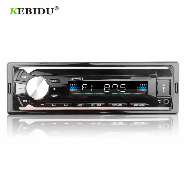 KEBIDU Car Radios Stereo Remote Control Digital Bluetooth Audio Music Stereo 12V Car Radio Mp3 Player USB/SD/AUX IN FM Receiver