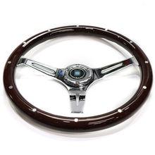 380 мм Универсальный автомобильный деревянное рулевое колесо