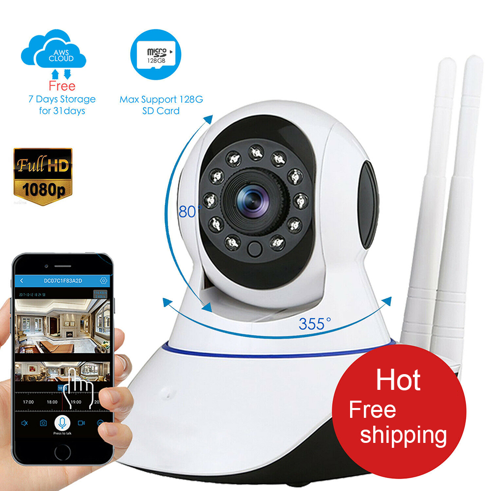 1080P HD Surveillance Camera Wifi Camera Home Security IP Camera Wireless Network Video Surveillance Wi-fi Night Vision