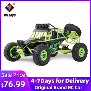 Wltoys 12428 50Km/h High Speed RC Car 1/12 Scale 2.4G 4WD RC Off-road Crawler RTR Electric RC Climbing Car Toy for Kids(China)