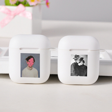 Cartoon white Cases For Apple AirPods Art Wireless Bluetooth Earphone For Apple Airpods 1 2 Protection Cover Cases