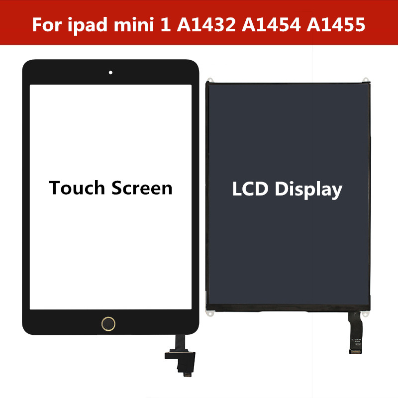 For Ipad Mini 1 A1432 A1454 A1455 Touch Screen Digitizer Panel With IC / LCD Display Screen Repair For Ipad Mini 1 Tablet Repair