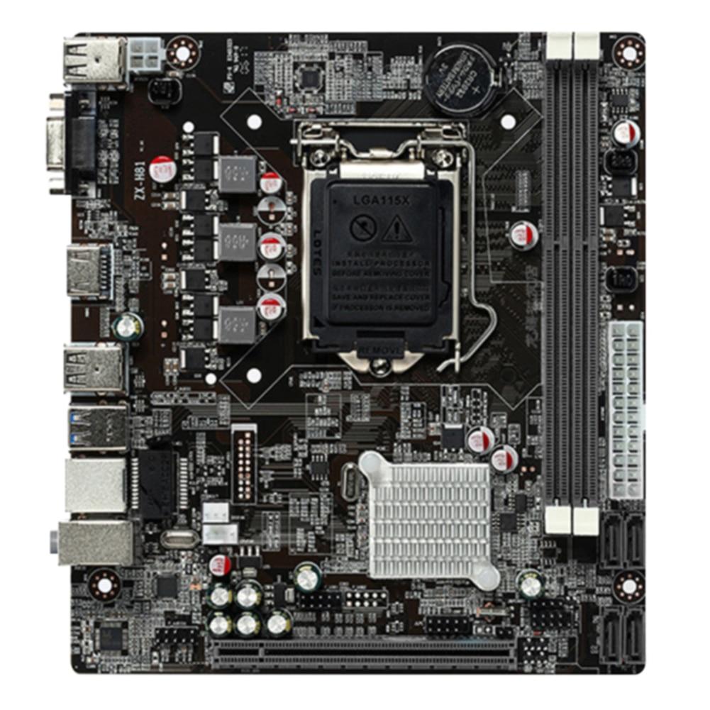 Para intel h81 ddr3 placa de controle memória computador para desktop placa placa lga 1150 microatx substituição estável vga/hdmi
