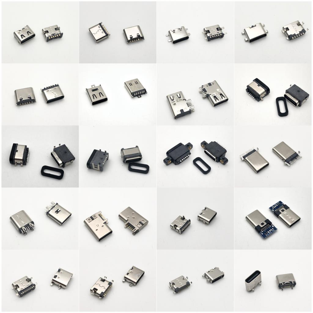 Usb-c Type C Usb 3.1 Male Female Socket PCB Connector  6P 9P 14P 16P Offset Flag SMT Vertical DIP Type DIY
