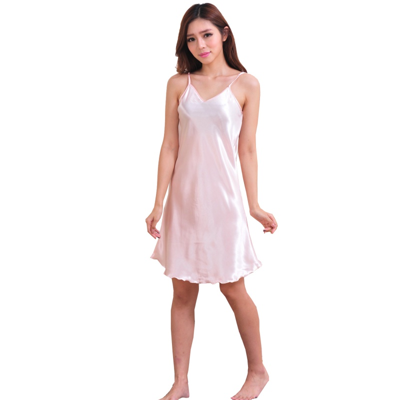 Fashion Women's Satin Comfortable Slip Dress