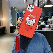 Чехол для телефона с красивой вышивкой мышь iphone 11