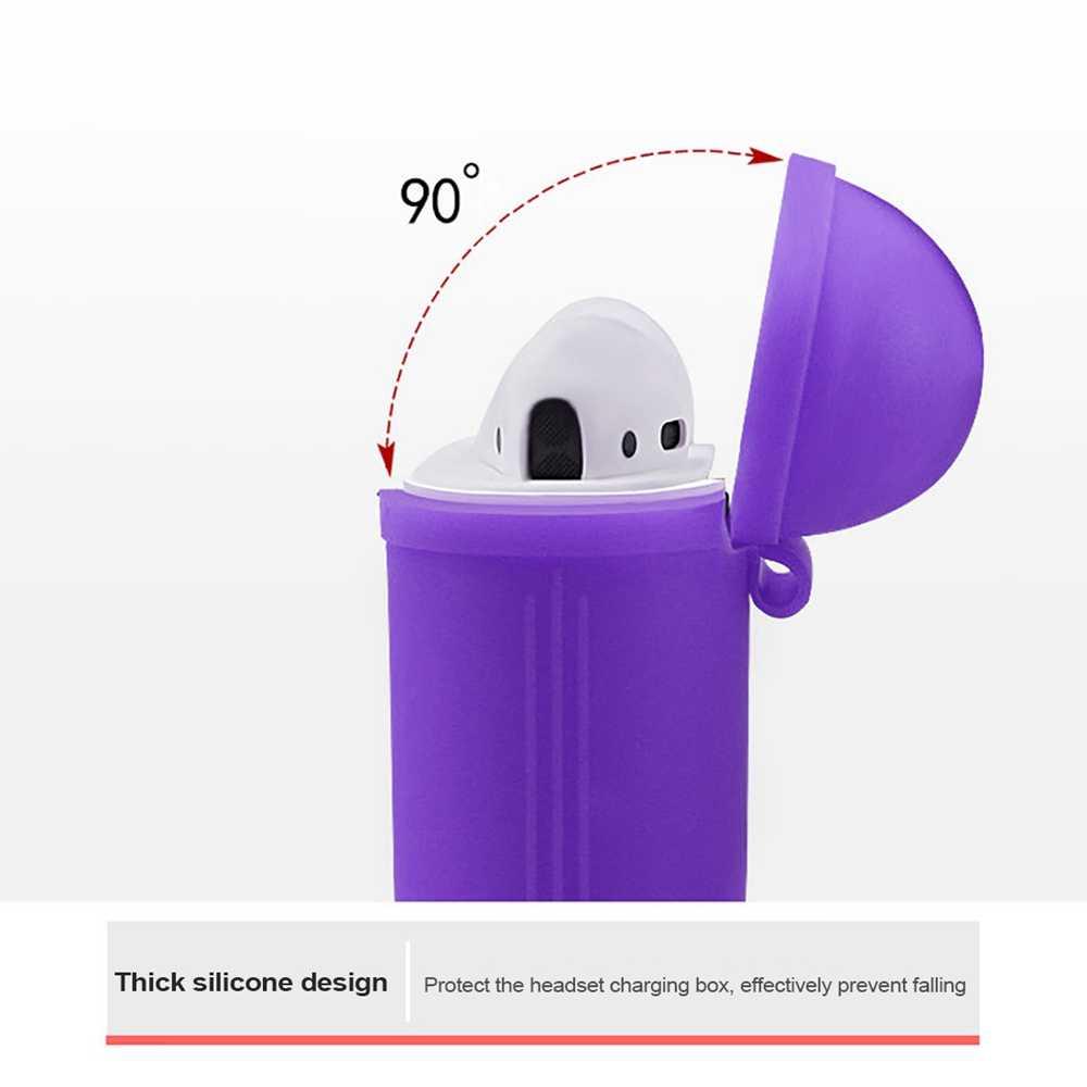 AirPods ため 1 個 TPU シリコーン Bluetooth ワイヤレスイヤホンケース保護カバースキン Apple Airpods 充電ボックス
