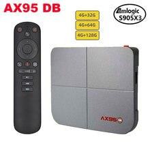 AX95 DB 4GB 64GB akıllı Android 9.0 TV kutusu Amlogic S905X3 8K desteği Dolby BD MV Bluetooth wifi medya oynatıcı