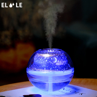 ELOOLE Mini Starry Air Humidifier USB Ultrasonic Aromatherapy Diffuser For Home Car LED Light Air Mist Maker Humidifiers Gift|Humidifiers| |  -