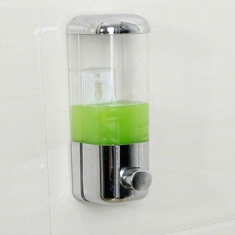 500 ml Liquid Soap Dispenser Wall Mount Bathroom Accessories Plastic Detergent Shampoo Dispensers Kitchen Bottle