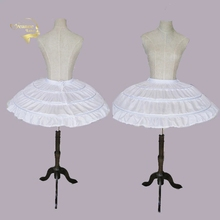 לבן 3 חישוקי חתונת תחתוניות עבור קצר שמלת בלט חצאית בנות קרינולינה אלסטי מתכוונן מותן תחתוניות Jupon משפט