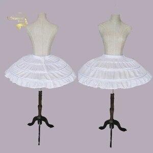 Image 1 - Enagua enagua para Vestido corto de boda, falda de Ballet para niñas, elástico ajustable, 3 aros, color blanco
