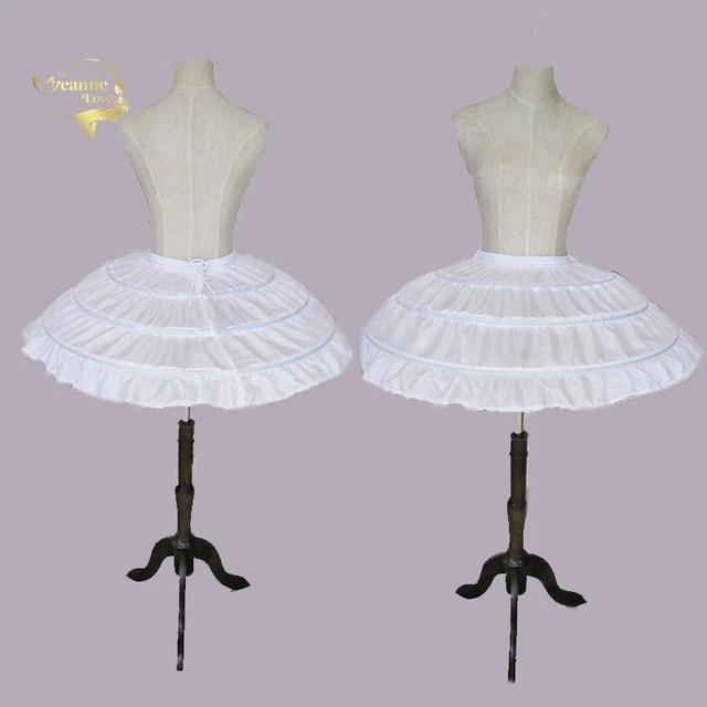 Enagua enagua para Vestido corto de boda, falda de Ballet para niñas, elástico ajustable, 3 aros, color blanco