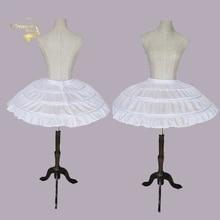 Saias de casamento 3 ganchos, branco, para vestido curto, saia de balé, crinolina, elástica ajustável, cintura, jupon tribunal