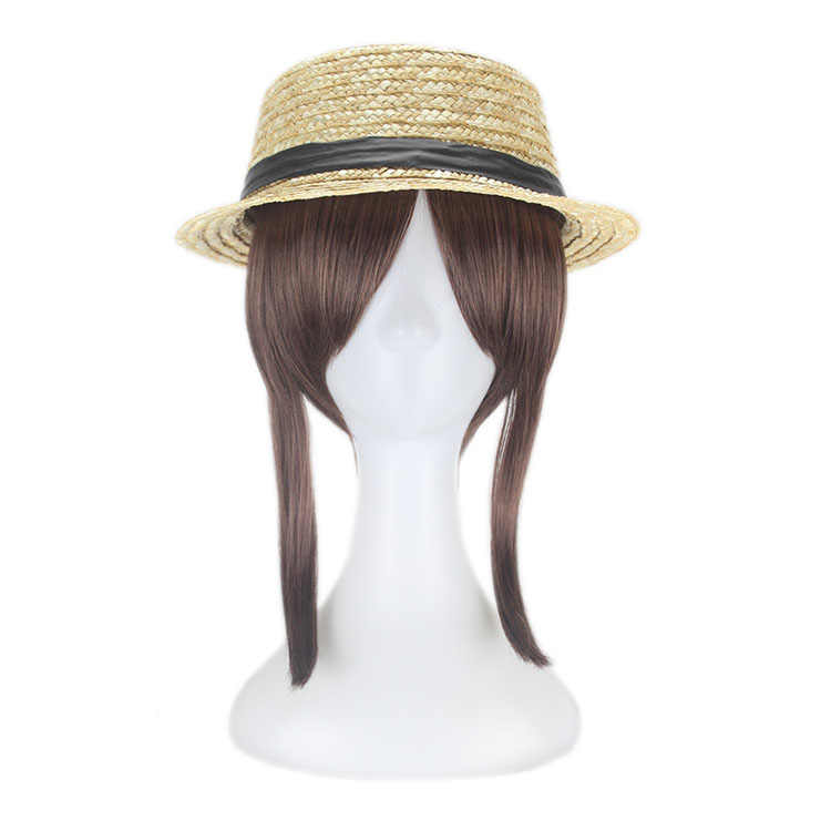 Xin Hai Yuan Identity V Cosplay Wigs Gardener Emma Woods Cosplay Wig Hat Halloween Carnival Party Wigs Cos Prop