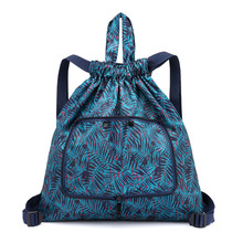 Drawstring Backpack Hawaii Style Vacation Handbag Women Beach Shoulder Bag Brand Summer Shopping Bags