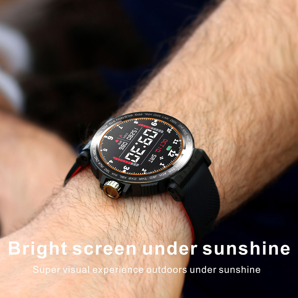 S18 Full Screen Touch Smart Watch IP68 Waterproof Men Sports Clock Heart Rate Monitor Smart Watch for IOS Android phone