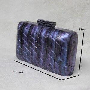 Image 2 - Luxy Moon kobiety akrylowa torba niebieska wieczorowa kopertówka luksusowa torebka ślubna w stylu Vintage torebka na ramię na imprezę ZD1513