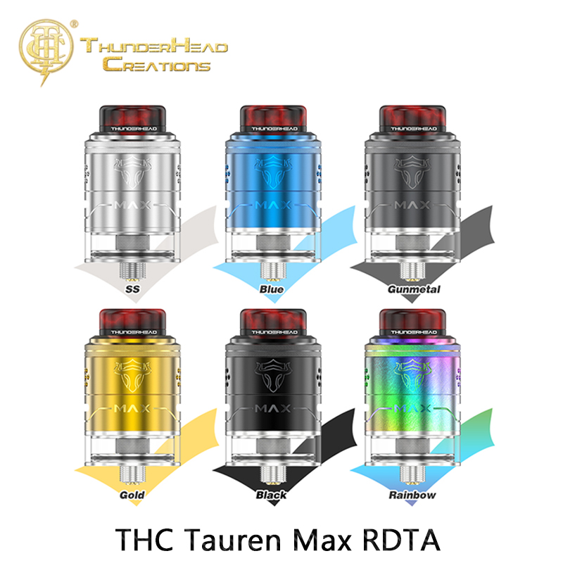 Original THC Tauren Max RDTA 2ml/4.5ml Capacity 25mm Vaporizer Tank For Electronic Cigarette Box Mod