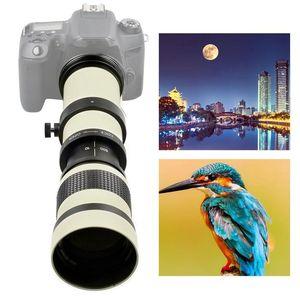 Телескоп с белой диафрагмой 420-800 мм F/8,3-16, телеобъектив с полной ручной фокусировкой, зум-объектив для Nikon F/Olympus OM/Canon EF-SMount Zoom