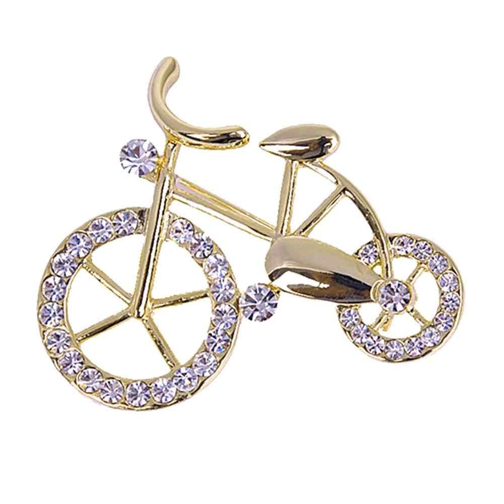 ラインストーン自転車バイクの形のブローチピンジュエリージャケットスカーフ襟バッグギフト