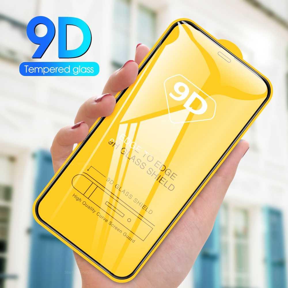 Para o iphone 11 9d vidro temperado para o iphone 11 pro max película protetora frontal para o iphone xr x xs max capa completa protetor de tela