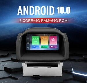 Image 3 - Autoradio Android 10.0, 4 go RAM, lecteur DVD, Navigation GPS, Bluetooth, Wifi, 2 Din, autoradio pour voiture Ford Fiesta (2013 2017)